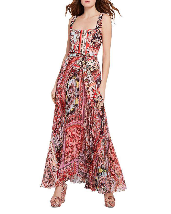 Alice and Olivia Deonna Pleated Tie-Waist Dress