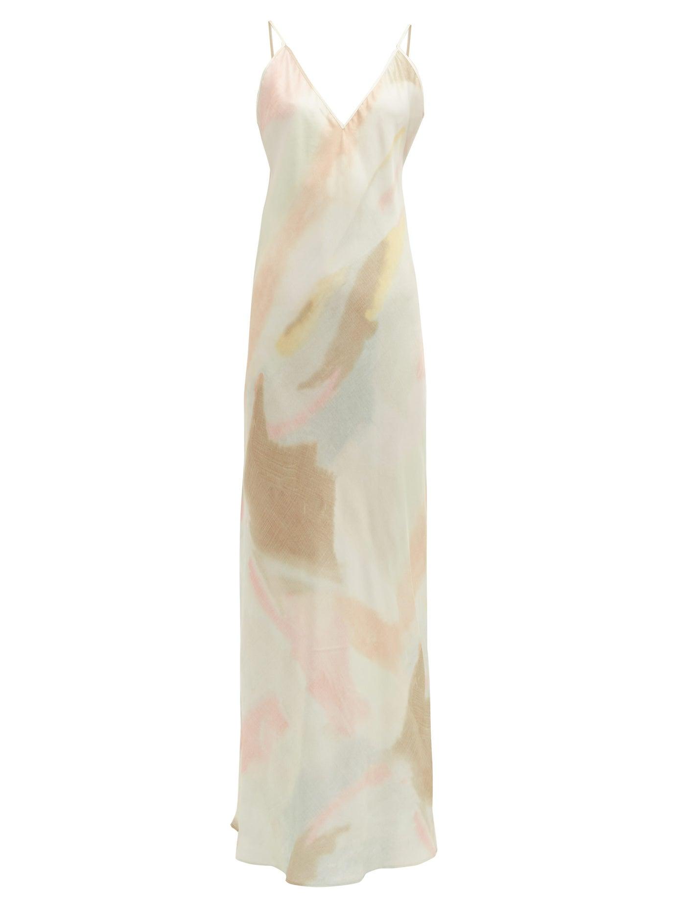 RAT & BOA Liberty pastel tie-dye slip dress