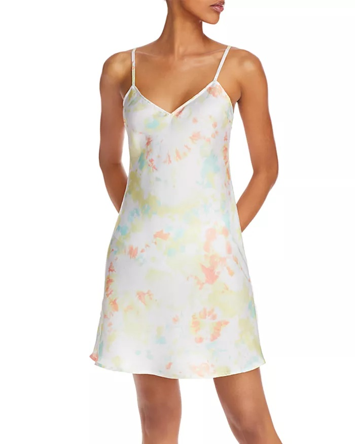 French connection Satin Tie Dyed Dress