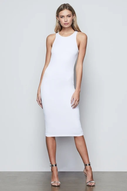 Good American THE BODY SCULPTED MIDI DRESS