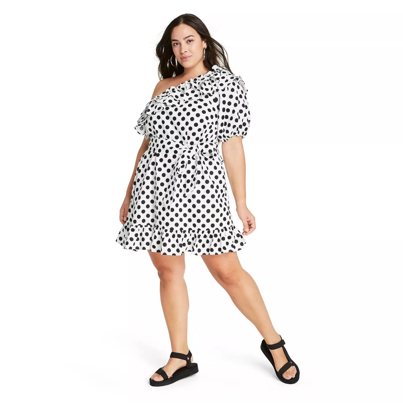 Lisa Marie Fernandez for Target Polka Dot One Shoulder Dress