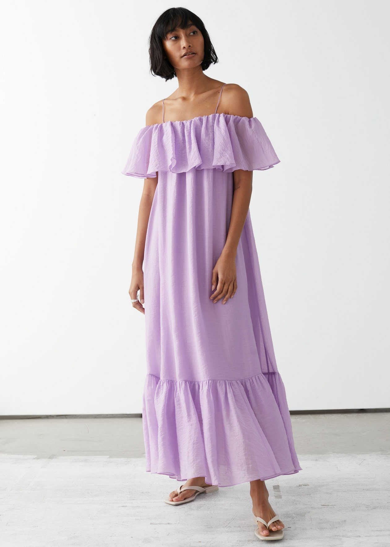 Other Stories Frill Maxi Dress